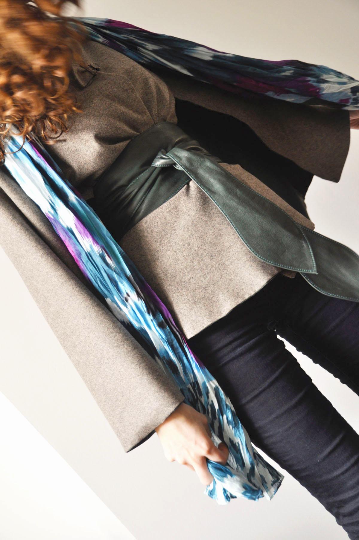 détail trendy cape