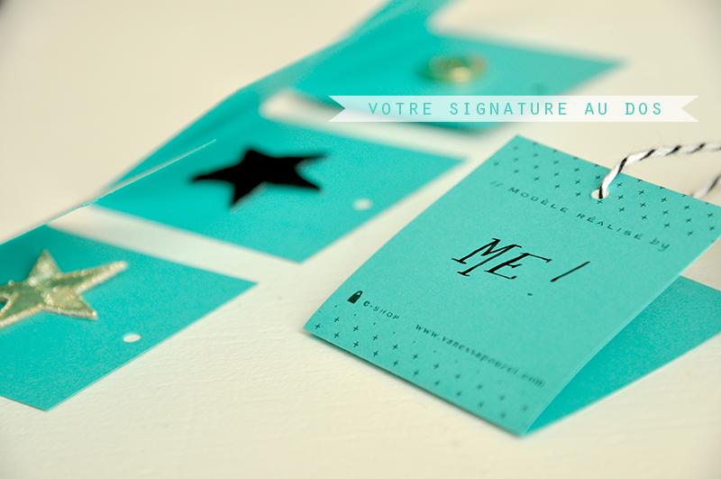 etiquettes turquoise