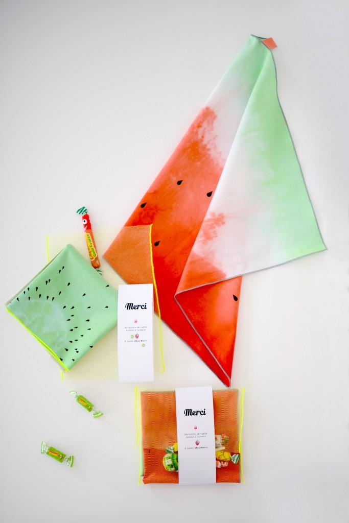 teinture tissu tie and dye fruit