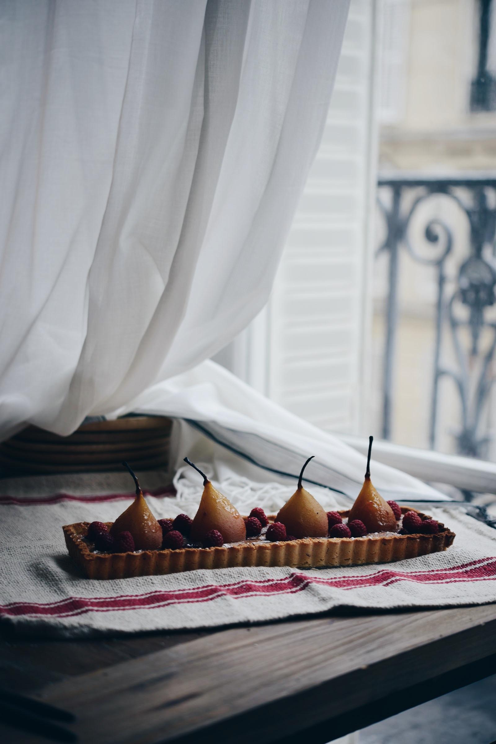 tarte-poire-framboise