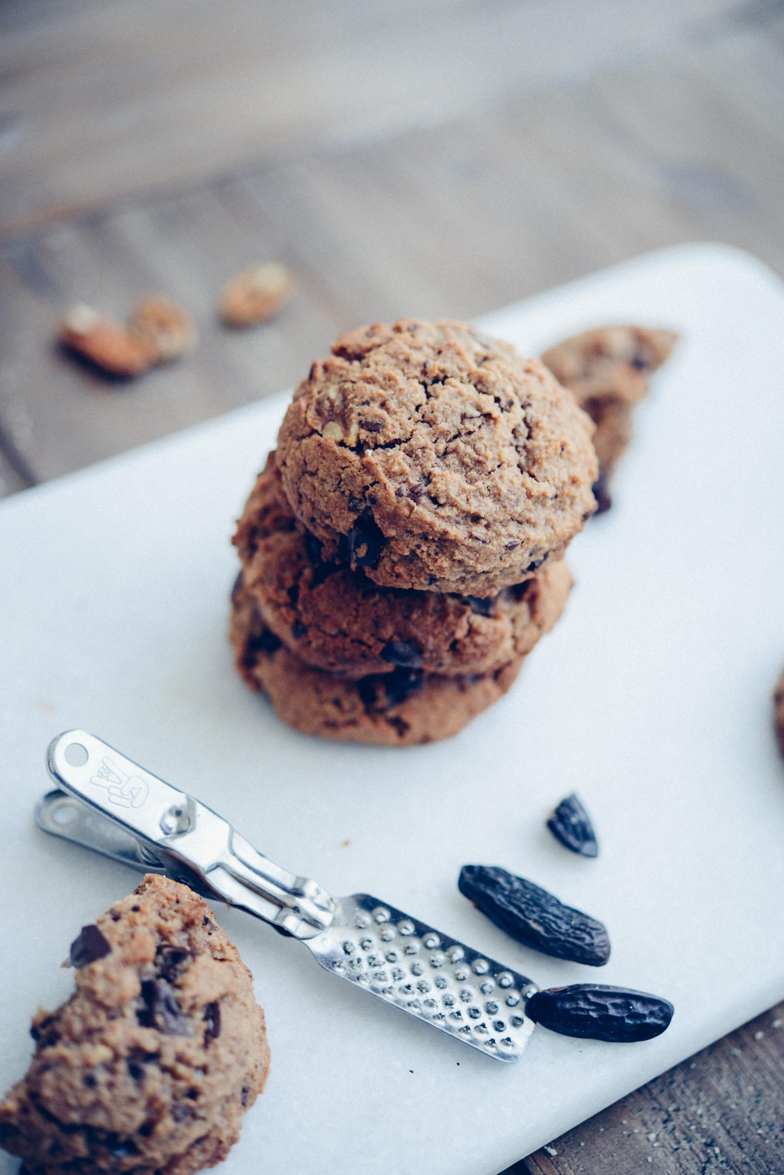 Cookies sans gluten - sans lactose au chocolat et fève tonka
